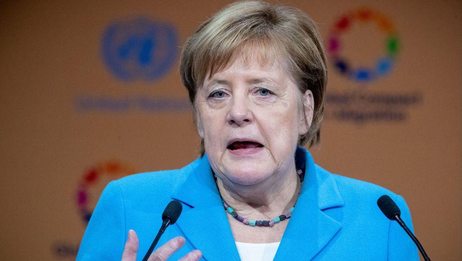 Kanzlerin Angela Merkel in Marrakesch