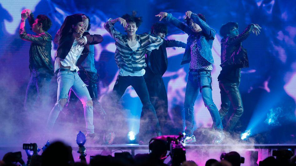 Die südkoreanische Boyband BTS