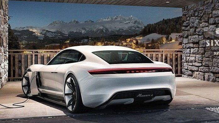 Elektro-Porsche mit veganer Ausstattung (Simulation)