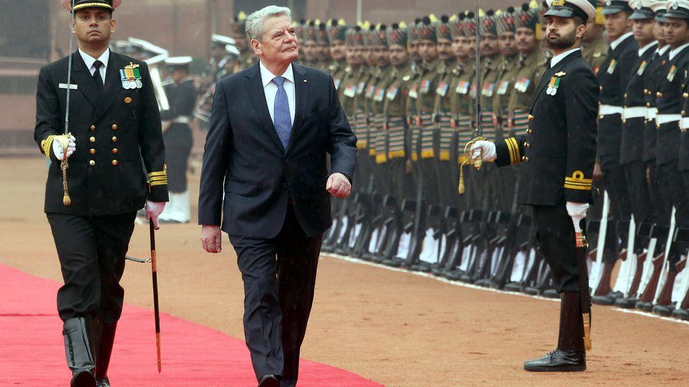 Besuch in Indien: Gauck und Schadt in Neu-Delhi