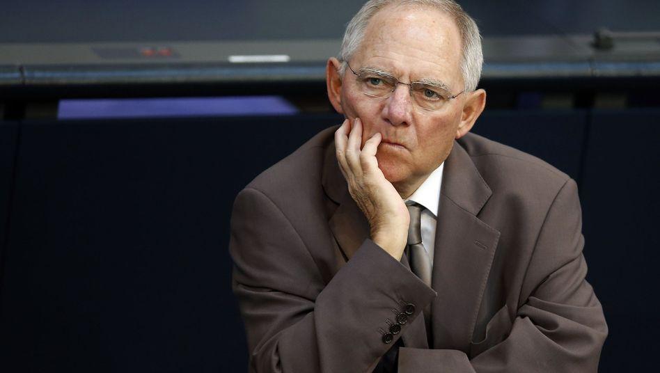 """Bundesfinanzminister Wolfgang Schäuble: """"Durchsichtiges Manöver"""""""