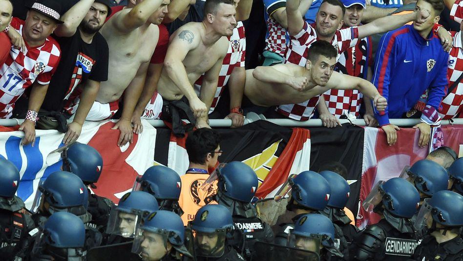 Kroatische Fußballfans