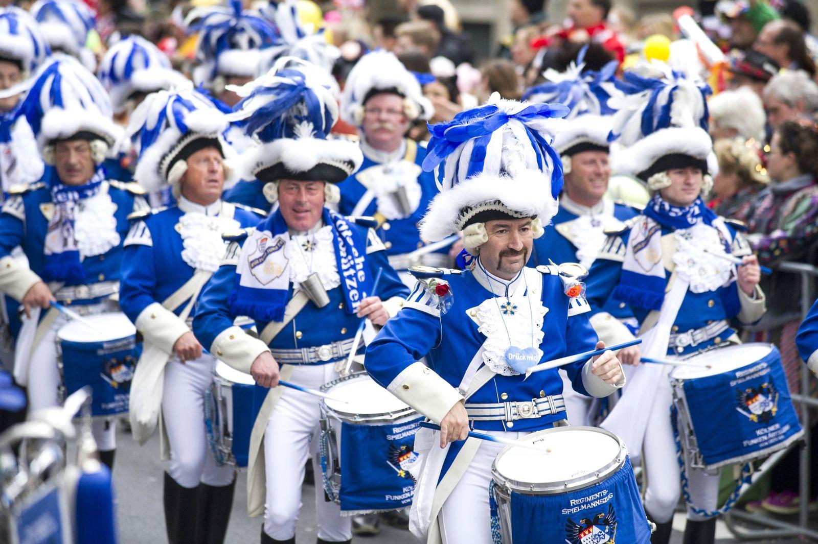 EINMALIGE VERWENDUNG Karneval in Köln
