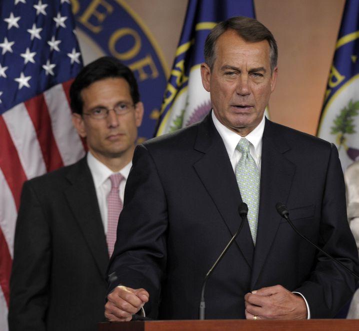 Republikaner Cantor und Boehner: Ärger unter Parteifreunden