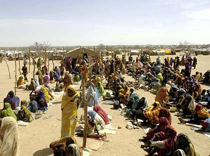 Refugees in the western Sudan province of Darfur are dying as a result of fighting in the region.