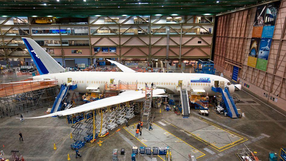 Boeing 787 Dreamliner in der Produktion