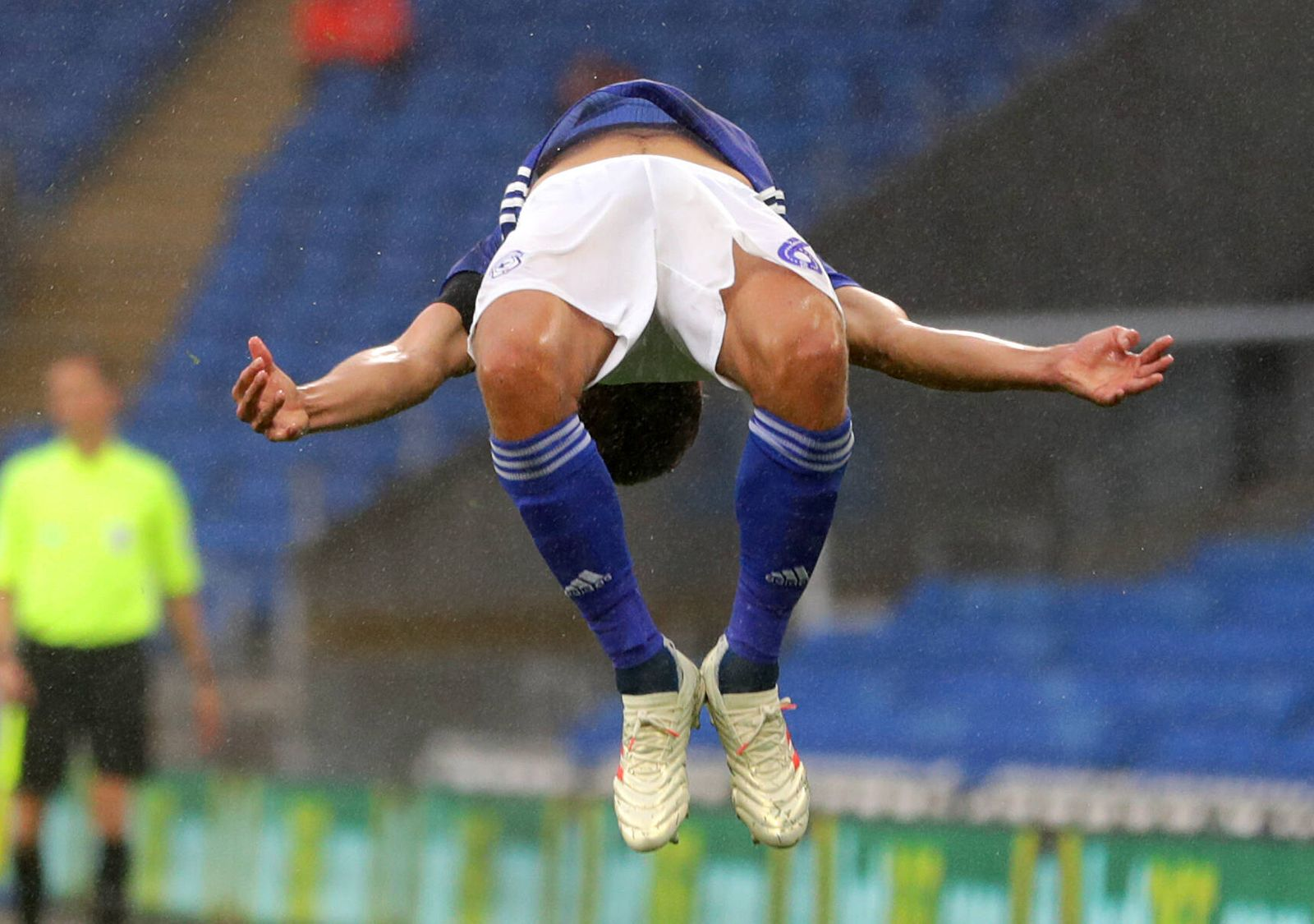 Cardiff City v Blackburn Rovers - Sky Bet Championship - Cardiff City Stadium Cardiff City s Will Vaulks celebrates sco