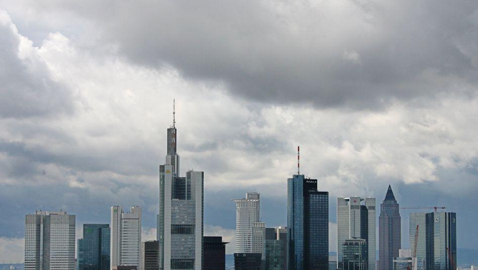 Banken-Hochhäuser in Frankfurt: Finanzkonzerne sollen für Griechenland zahlen