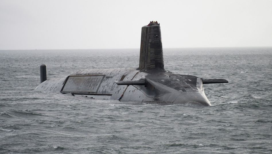 A British nuclear submarine near Scotland