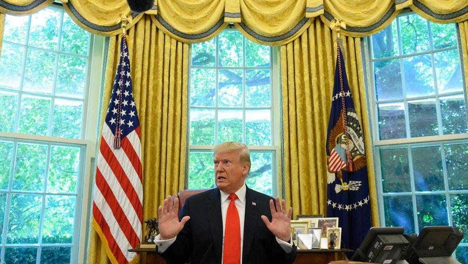 US-Präsident Donald Trump sagte die Friedensverhandlungen via Twitter kurzfristig ab