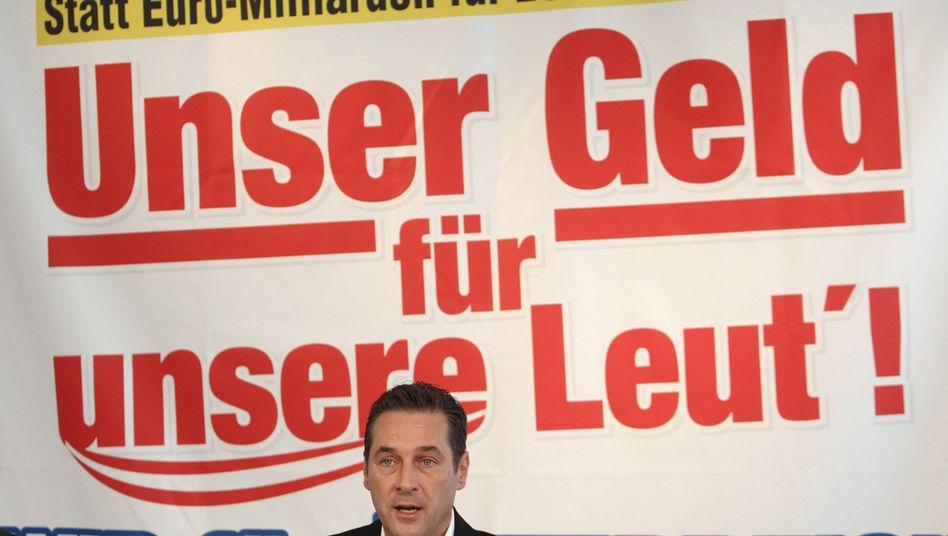 Rechtspopulist Strache: Wirbel um Karikatur auf Facebook-Seite