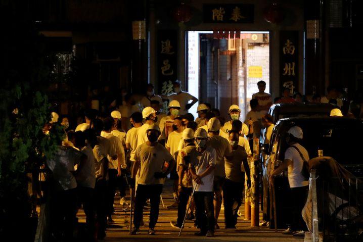 Auseinandersetzungen an einer Hongkonger Bahnstation am vergangenem Sonntag
