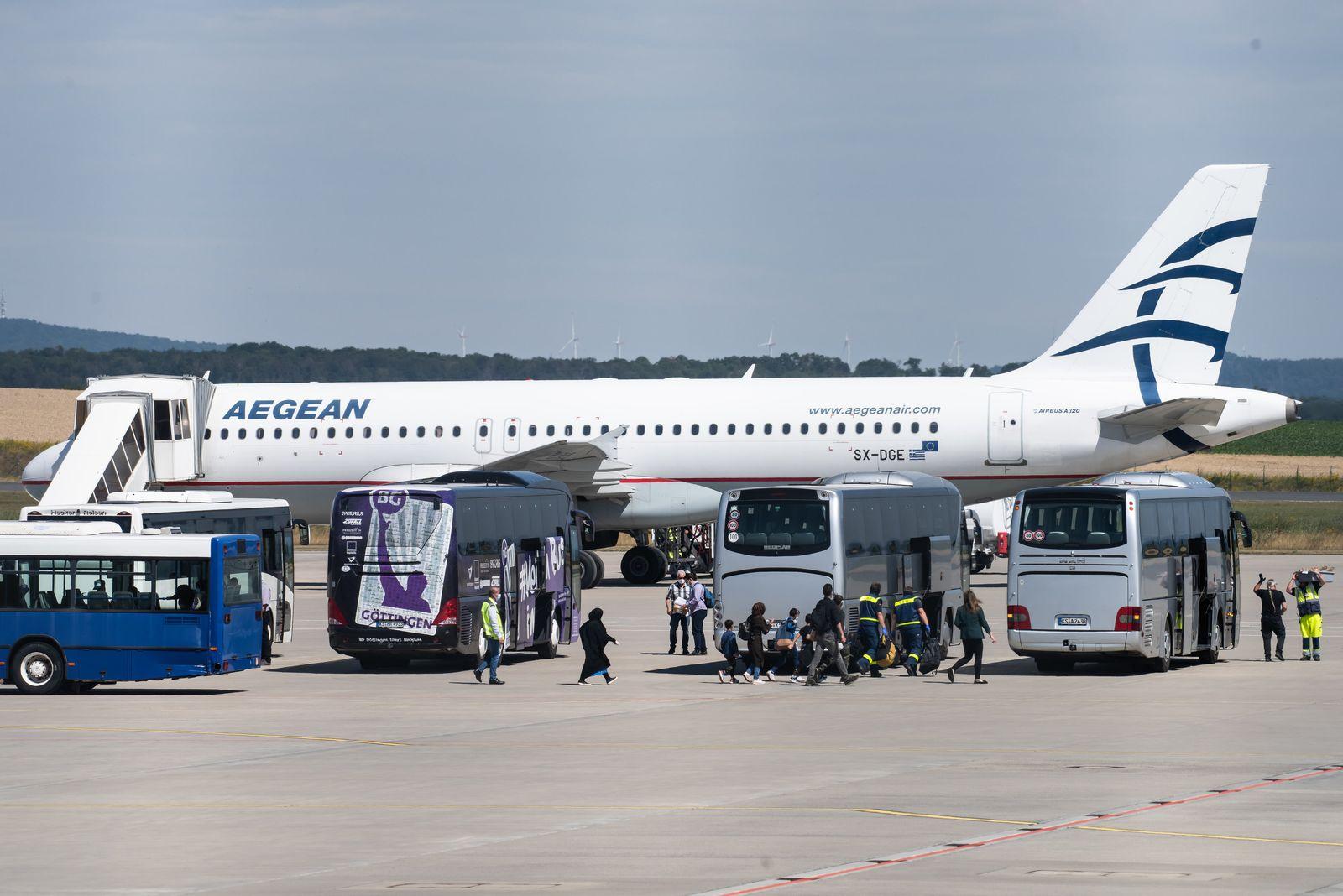Ankunft Flüchtlinge aus griechischen Flüchtlingslagern