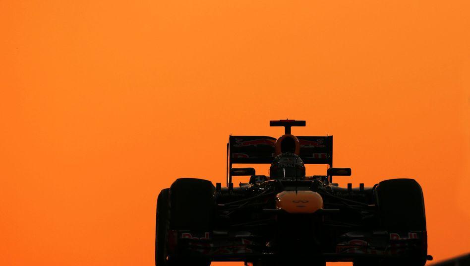 Formel-1-Pilot Vettel im Red Bull auf dem Yas Marina Circuit: Rekordsieger in Abu Dhabi