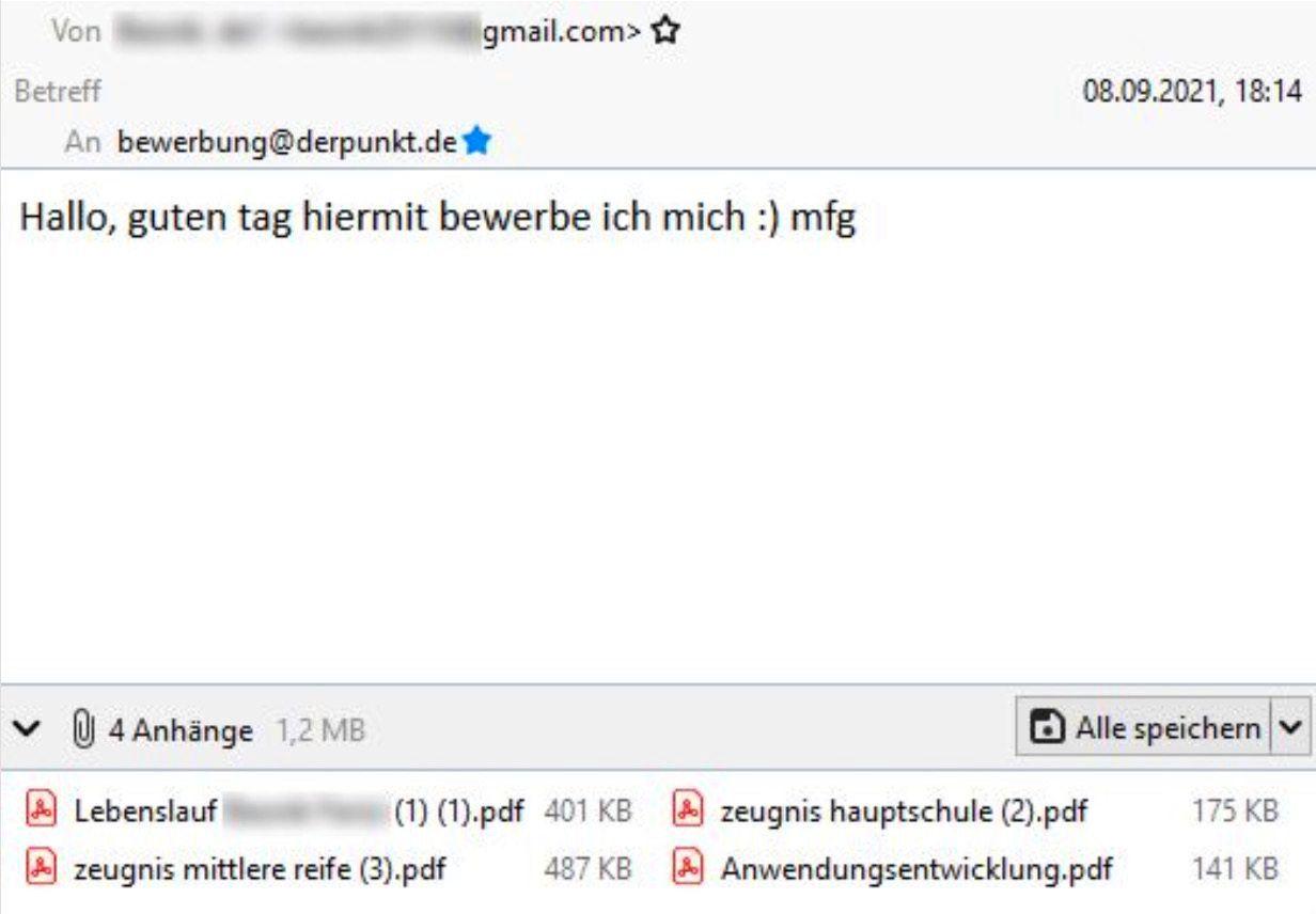 Bewerbung / Daniel Merkel