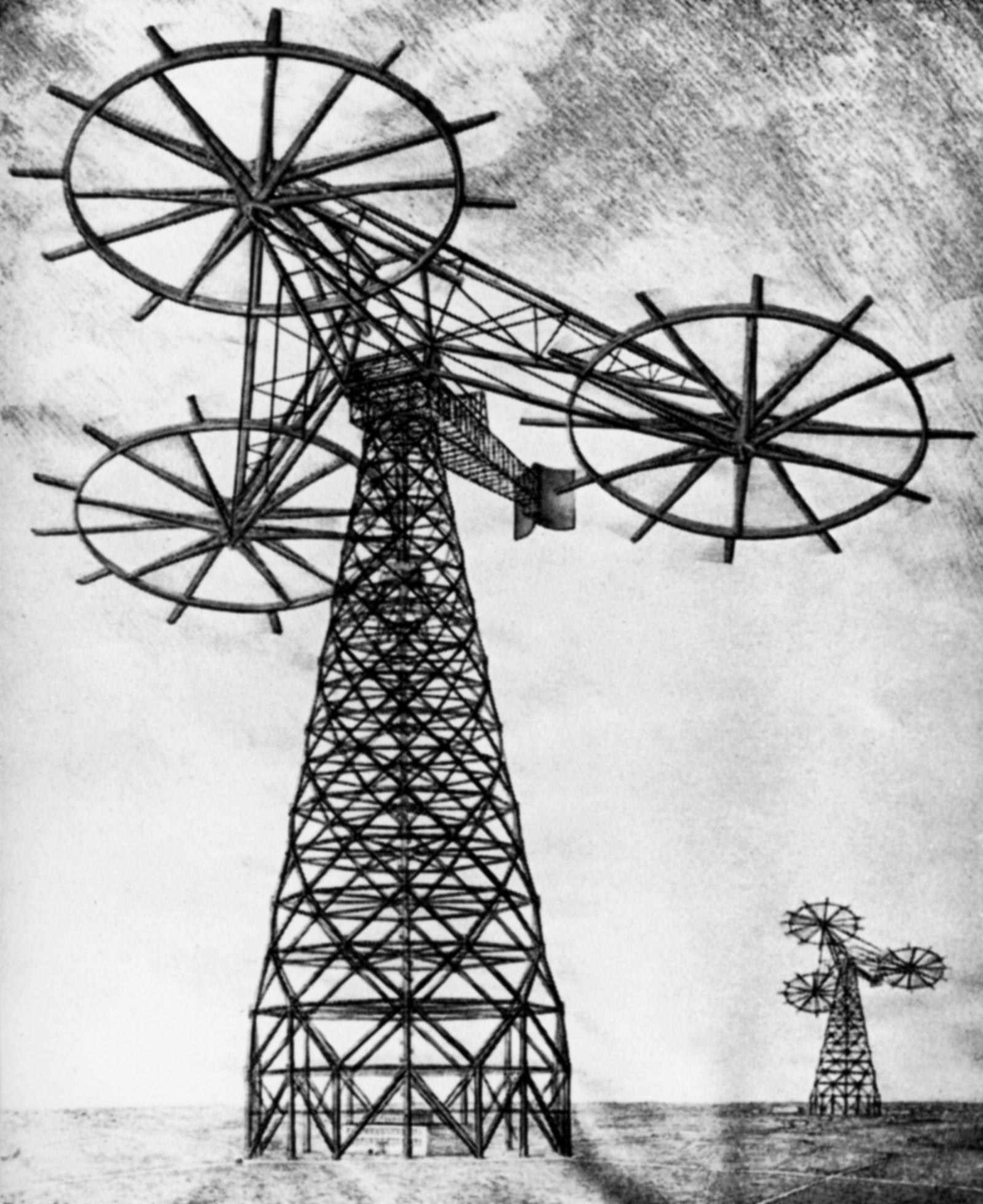 Windkraft Pioniere - Windturbinen entwickelt von Hermann Honnef