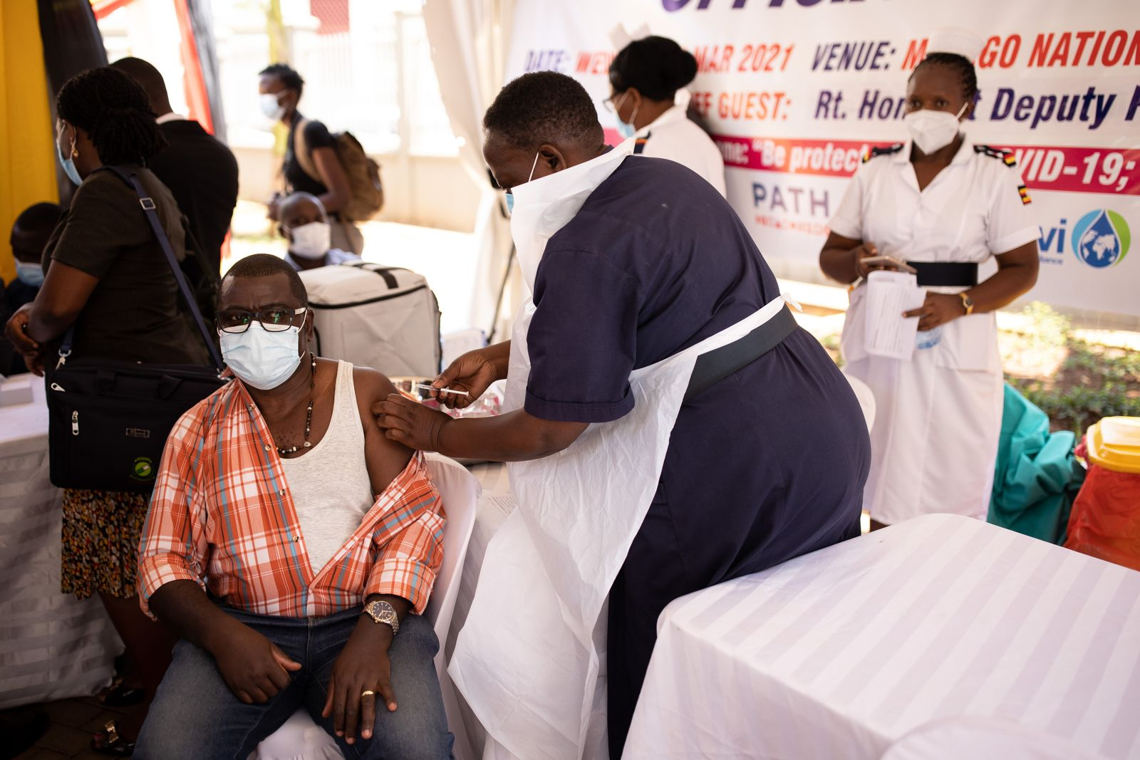 First Covid Vaccines Administered To Ugandans
