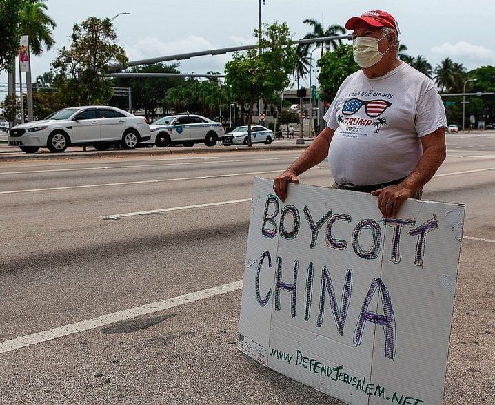 Protesters in Miami on April 25: The discrepancy between the U.S. and China could hardly be greater.