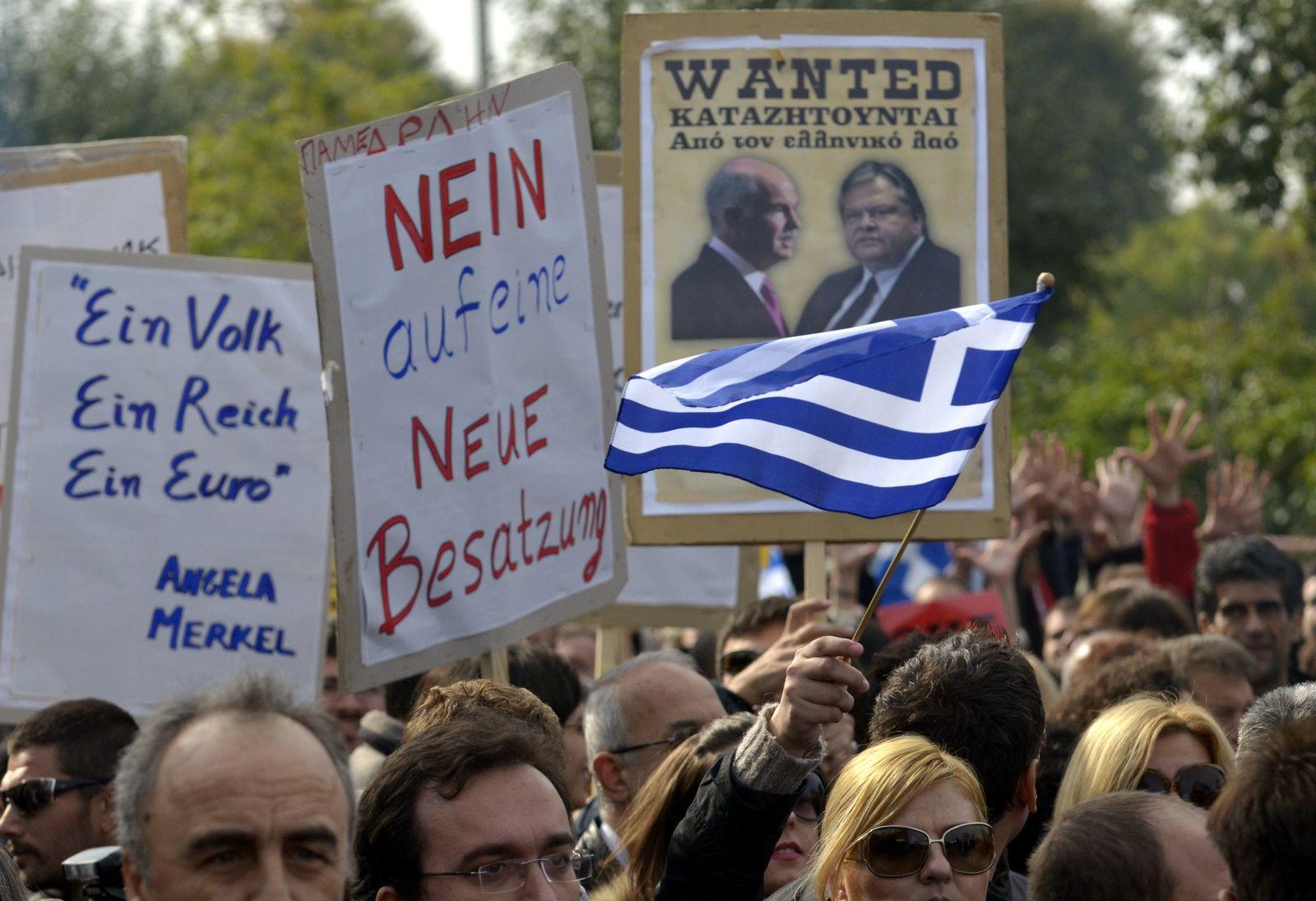 Griechenland/ Finanzkrise/ Merkel/ Protest