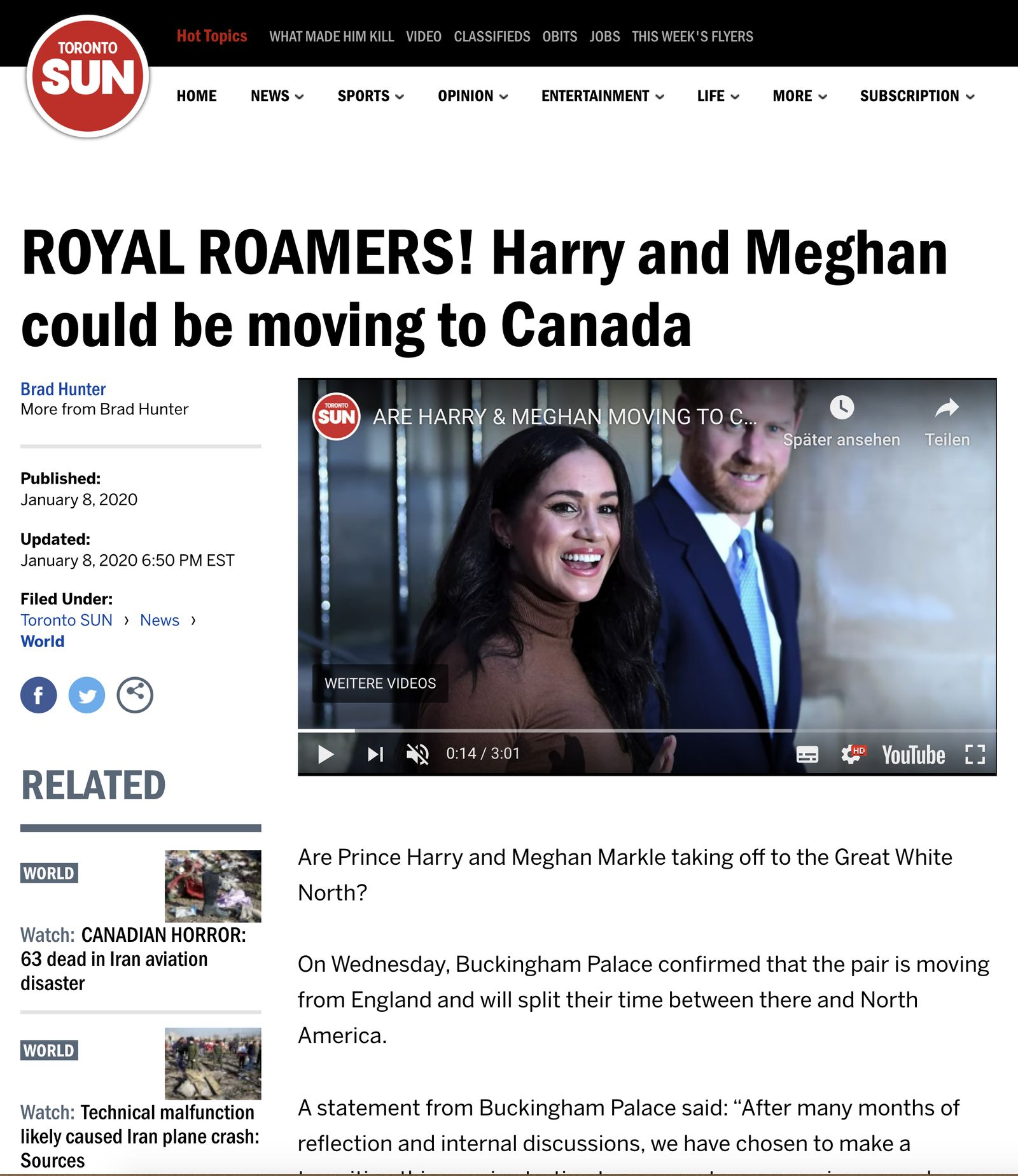 Royals/ Meghan/ Harry/ Newspaper