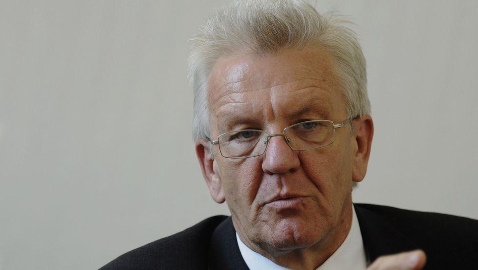"""Grünen-Politiker Kretschmann: """"Damit würden wir uns im Oppositionsgestus einmauern"""""""