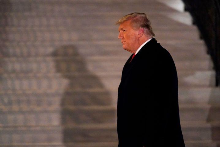 Donald Trump ist auf dem Weg zum Ausgang