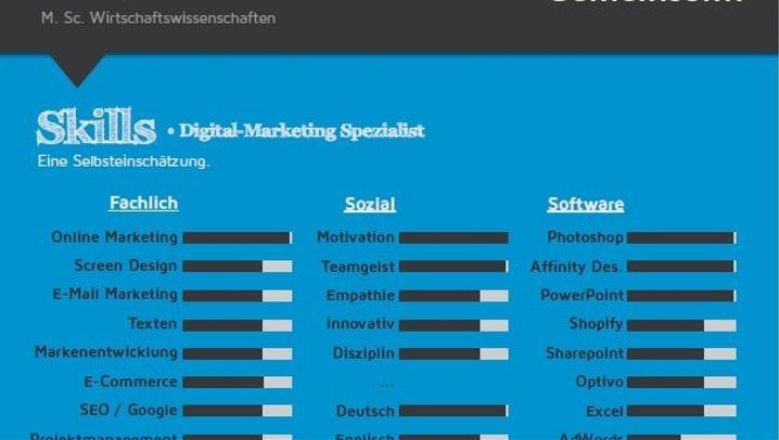 Kreativer Lebenslauf: Der Marketingmanager