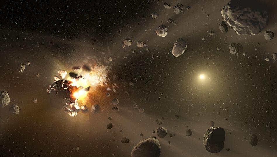 Asteroiden-Entstehung (künstlerische Darstellung, Archiv)