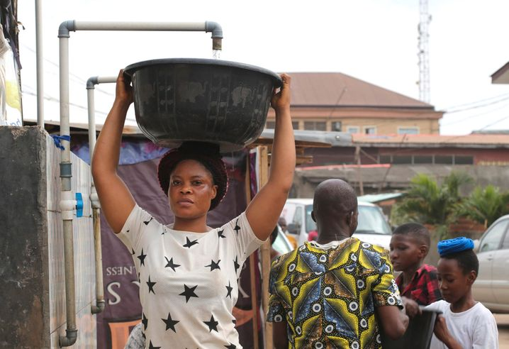 Precious Oyem spends 45 minutes each day just fetching water. And that's after sitting in a traffic jam for two hours.