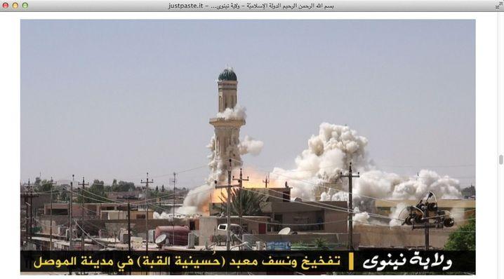Sprengung von Moschee im Nordirak: Zerstörung durch Islamisten