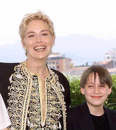 """Kieran Culkin mit Filmpartnerin Sharon Stone (1998 in Cannes): """"Zum ersten Mal wie ein Schauspieler behandelt"""""""