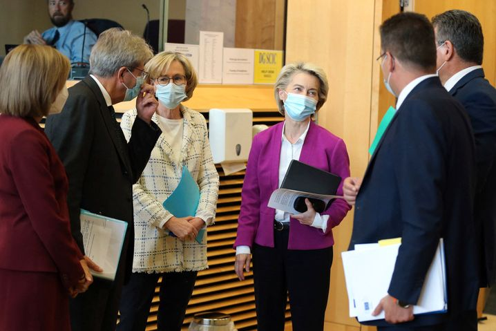 European Commission President Ursula von der Leyen during a meeting of the European Council in Brussels
