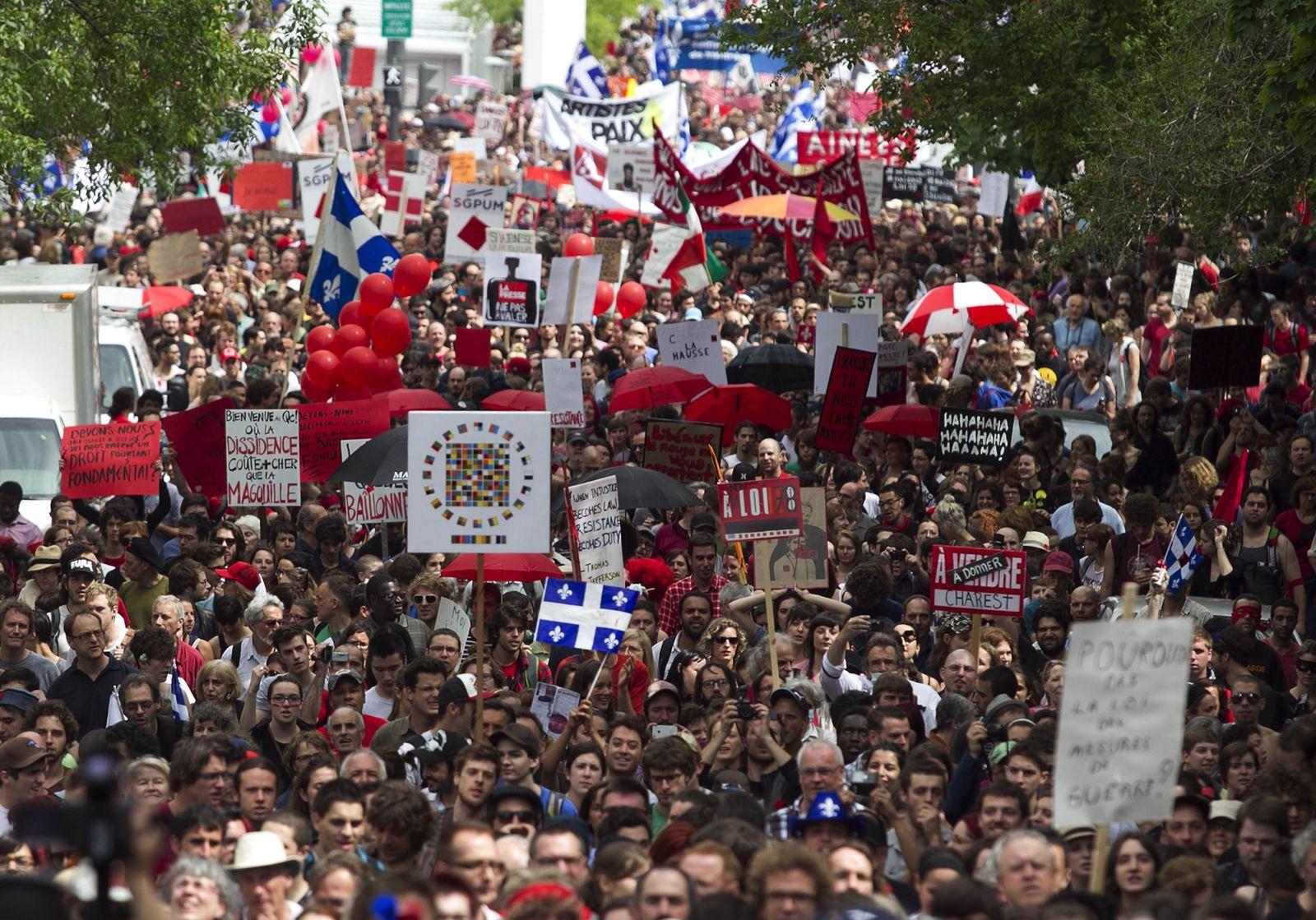 Studentenproteste / Québec