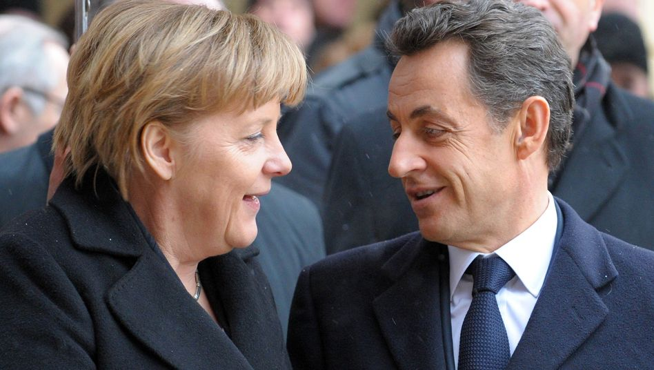 German Chancellor Angela Merkel and French President Nicolas Sarkozy at a German-French meeting in Freiburg on Dec. 10: Germany needs Europe more than ever.