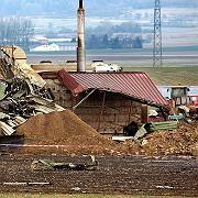 Völlig zertrümmert: die Biogasanlage in Riedlingen (Kreis Biberach)