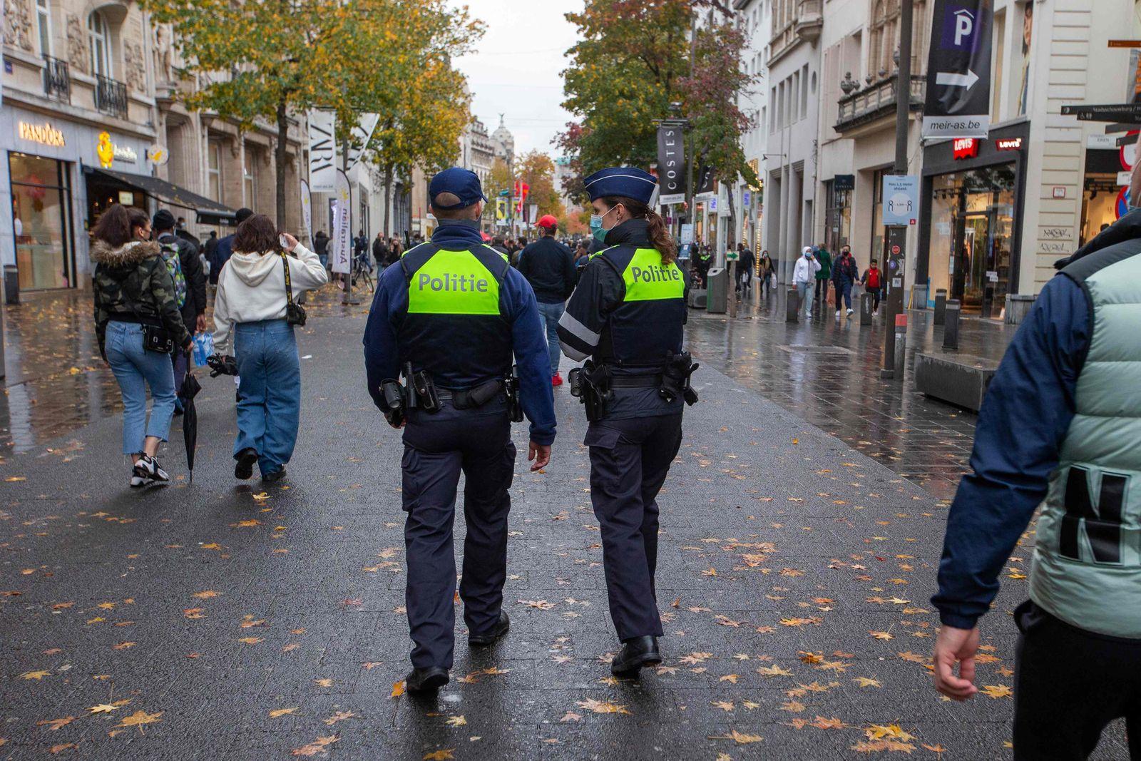 BELGIUM-HEALTH-VIRUS-POLICE