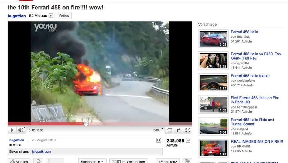 Ferrari 458 Italia: Kleber als Brandursache
