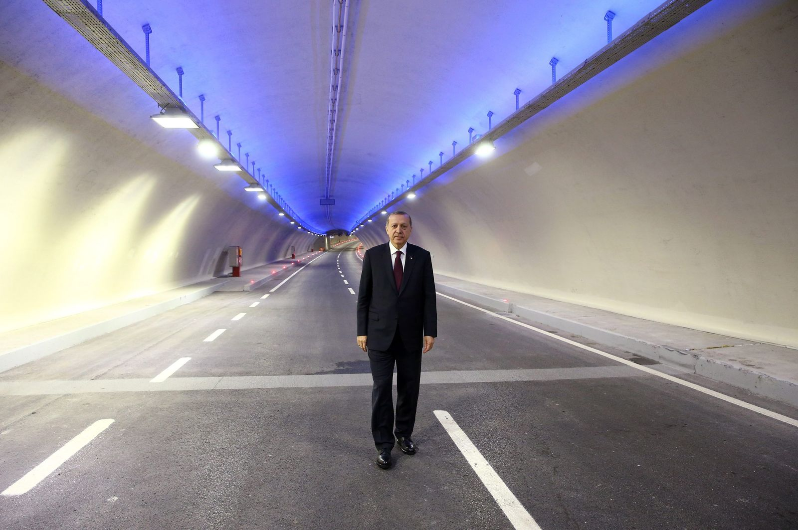 Opening ceremony of the Eurasia Tunnel in Istanbul