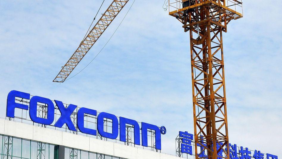 Foxconn-Baustelle in China: Bald sollen auch große Fabriken in Indien folgen