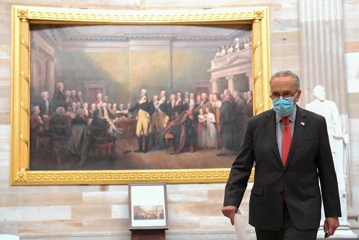 Kein Geld für Corona-Opfer: Demokratischer Senator Chuck Schumer bei den Verhandlungen im Kongress