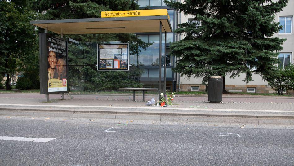 Unglücksstelle in Dresden: Wurde ein Kind Opfer eines illegalen Autorennens?