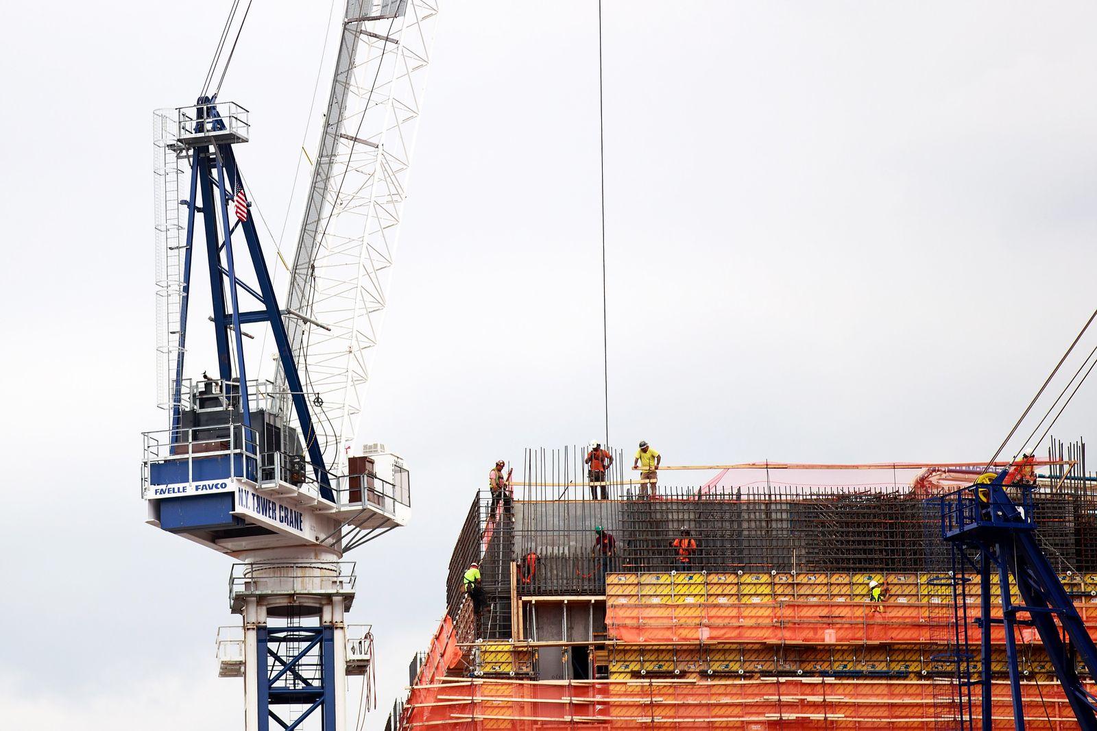 USA Wirtschaft / Konjunktur / Baustelle / Bauarbeiter