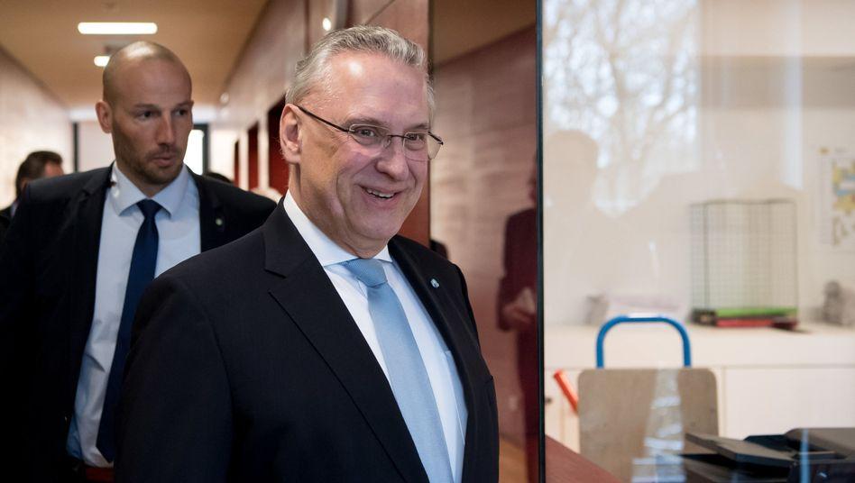 21.03.2018, Bayern, München: Joachim Herrmann (CSU), Innenminister von Bayern.