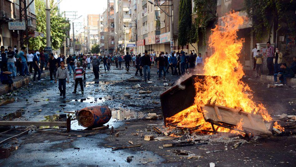 Gewaltsame Proteste in Diyarbakir: Bei den Protesten im Oktober 2014 kamen 37 Menschen ums Leben, Hunderte weitere wurden verletzt