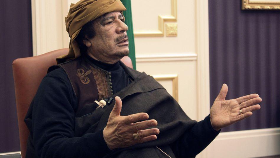 Machthaber Gaddafi: Milliarden in Deutschland eingefroren