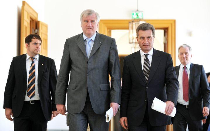 Unions-Ministerpräsidenten Seehofer, Oettinger: Gemeinsame Interessen