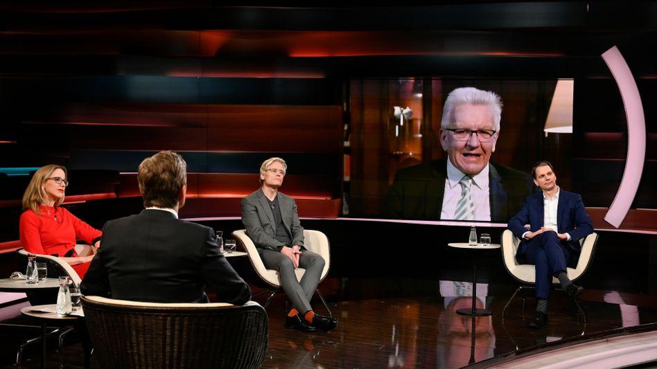 Ministerpräsident Winfried Kretschmann bei Markus Lanz: »Erst mal froh sein«