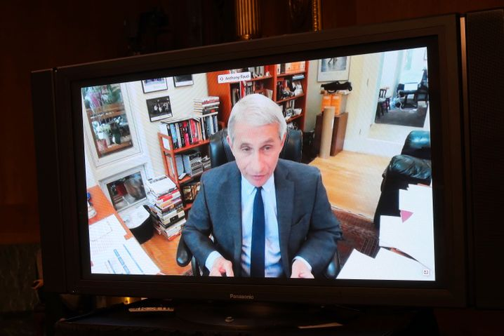 Fauci bei seiner Video-Anhörung im US-Senat