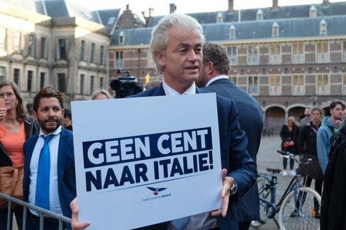 """Niederländischer Rechtspopulist Wilders: """"Kein Cent für Italien"""""""