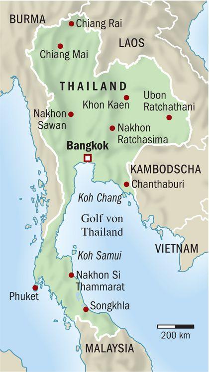 Thailand-Karte